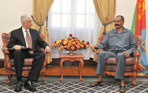 Egyptian Deputy Foreign Minister with Issayas Afewrki
