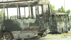 Ethiopia_protesters_burnt buses
