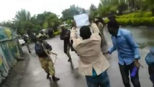 Ethiopia - soldiers aiming guns at peaceful protesters