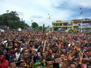 Demonstration in Gondar, 31 July, 2016